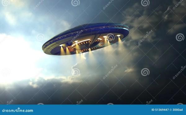 Alien UFO Near Earth Stock Photo Image 51369447