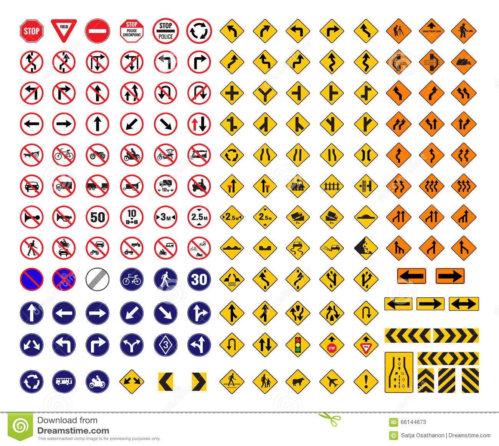 All Traffic Signs Stock Vector Illustration Of Signal