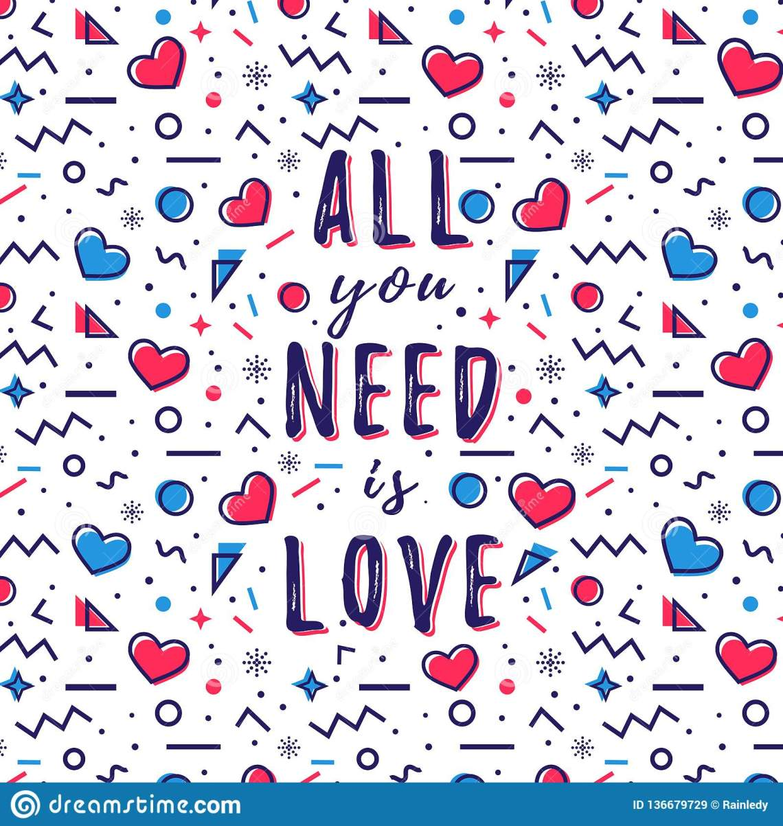 Download All You Need Is Love Quote. Vector Illustration Stock ...