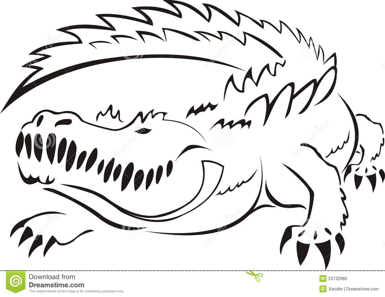Alligator Stock Vector