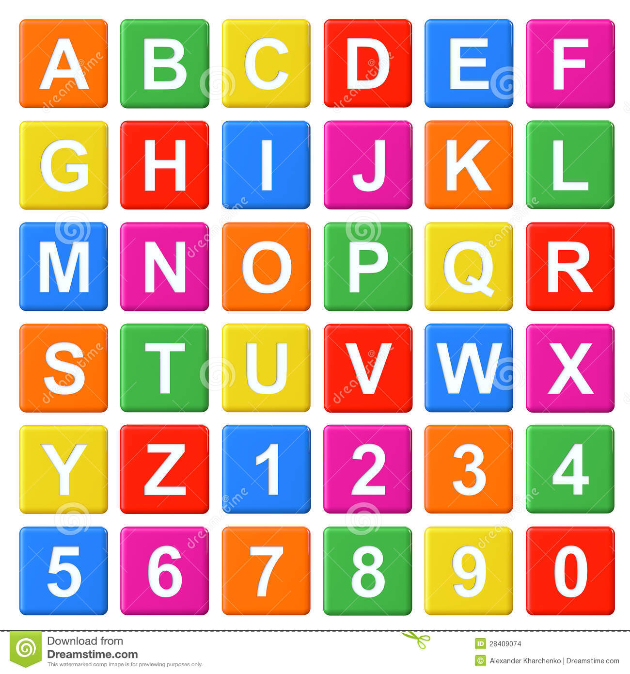 Alphabet Baby Blocks Stock Illustration Image Of Letters