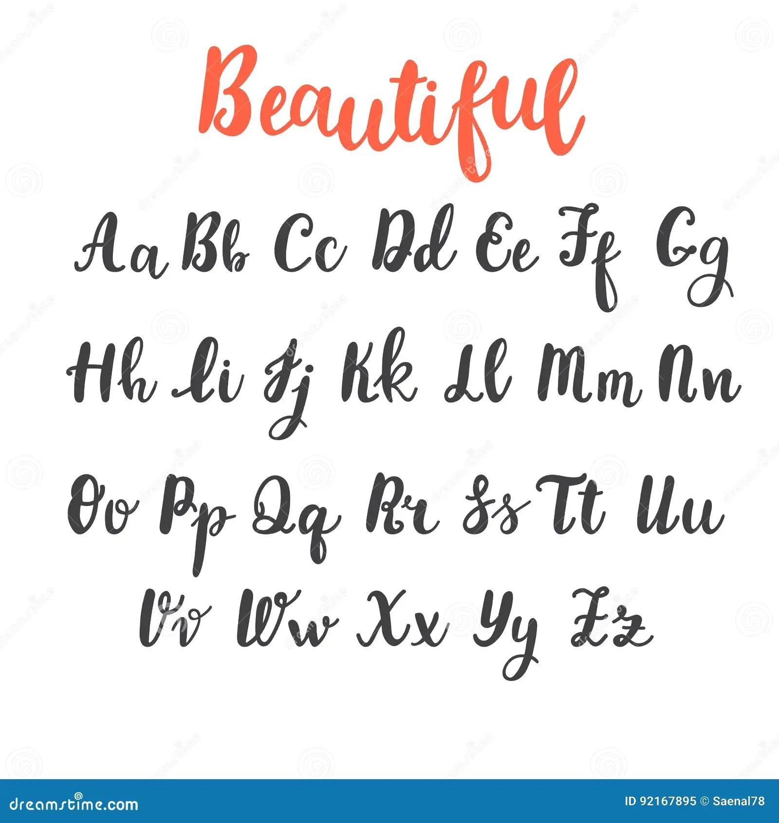Alphabet D Aspiration De Main Lettres Majuscules Et