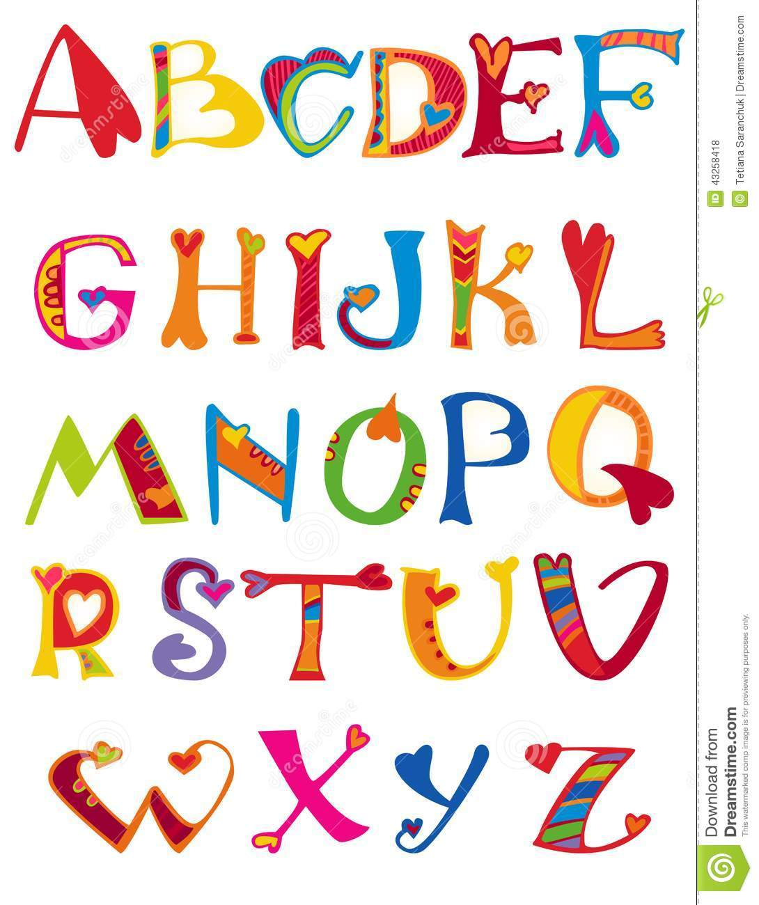 cute girly alphabet letters font