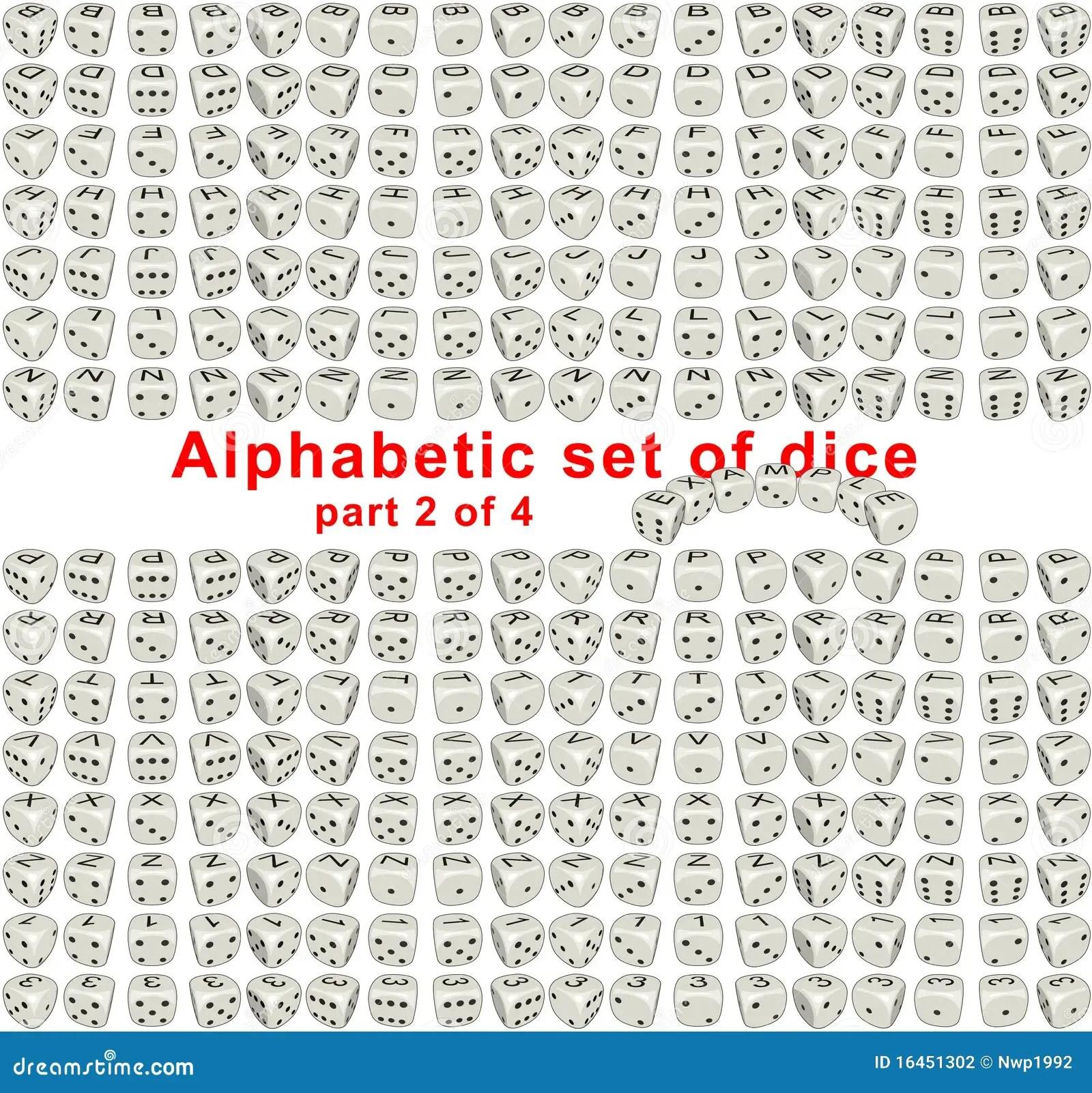 Alphabet Dice Part 2 Of 4 Stock Illustration