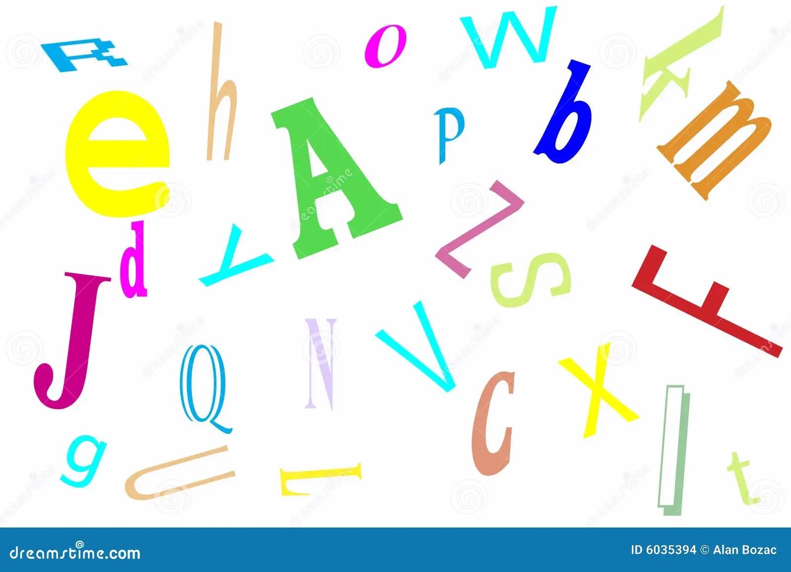 Alphabet Jumble Stock Illustration Illustration Of
