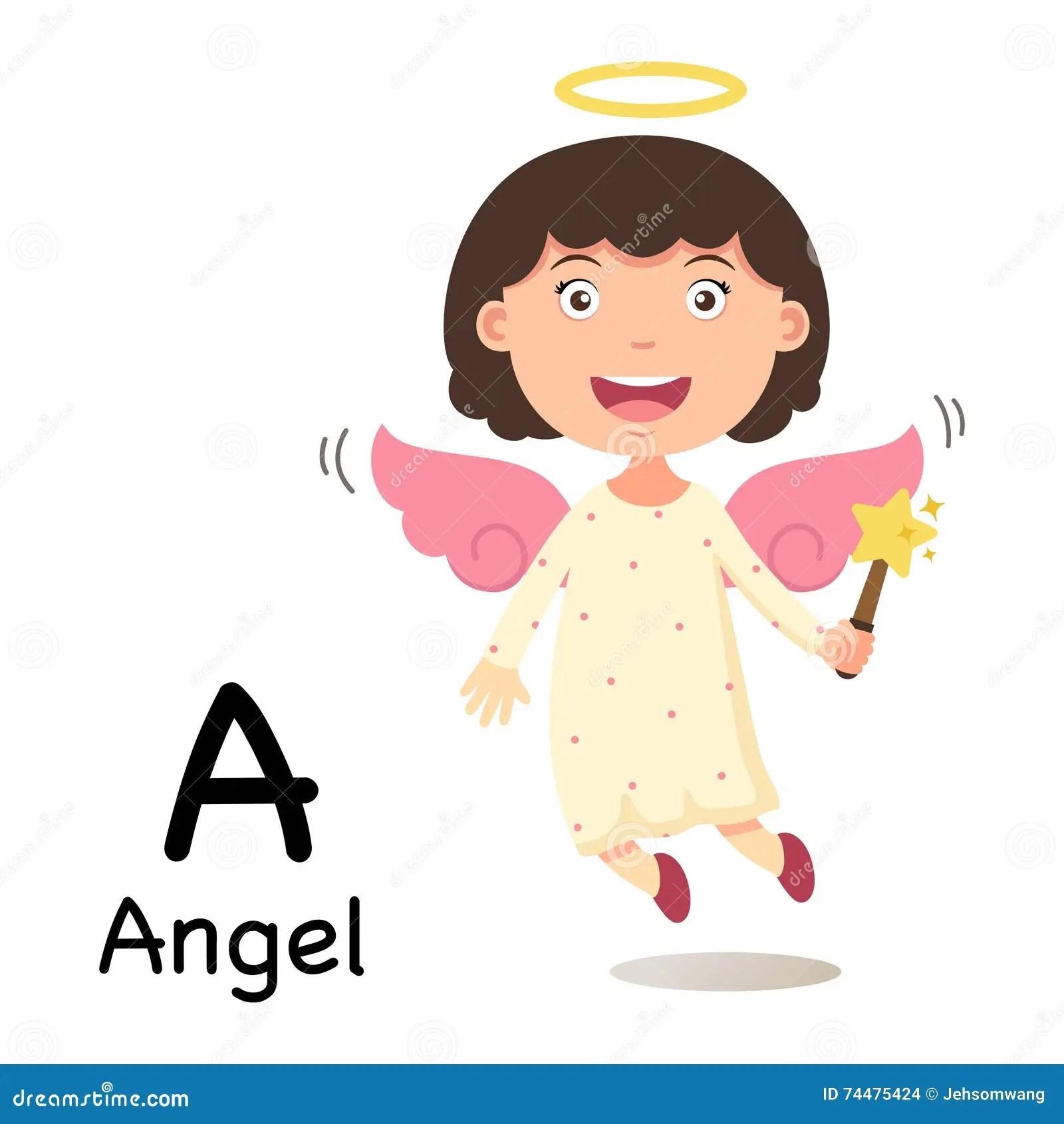 Alphabet Letter A Angelvector Stock Vector Image 74475424