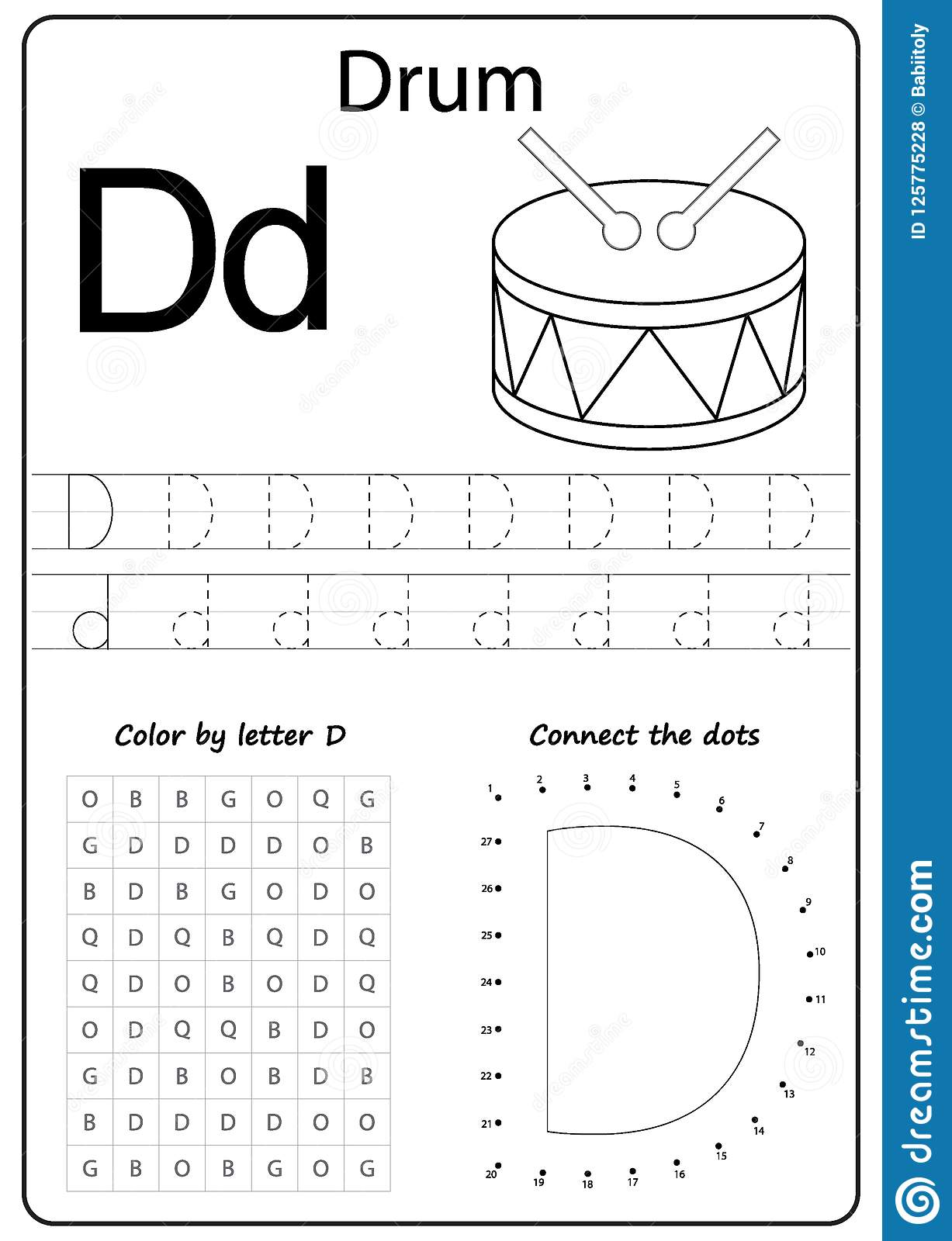 Writing Letter D Worksheet Writing A Z Alphabet