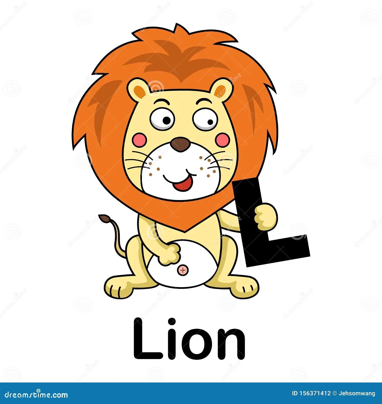 Alphabet Letter L Lion Stock Vector Illustration Of Learn
