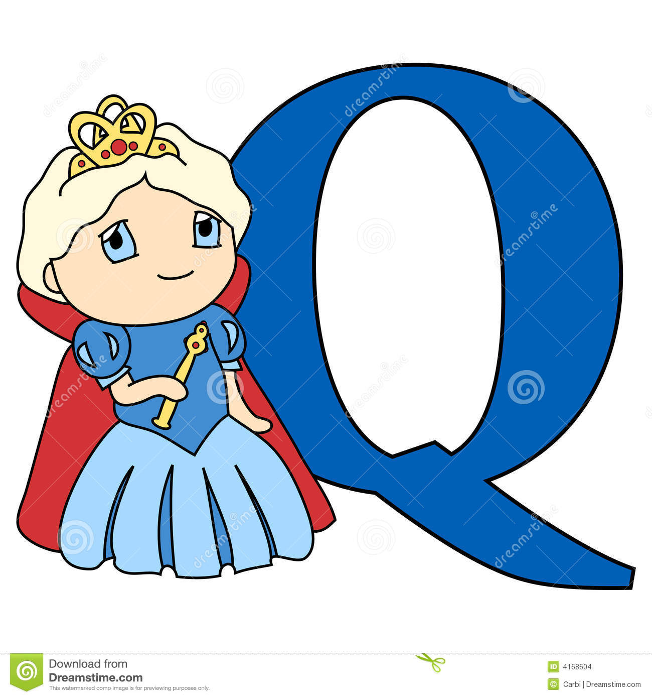 Alphabet Letter Q Stock Vector Illustration Of