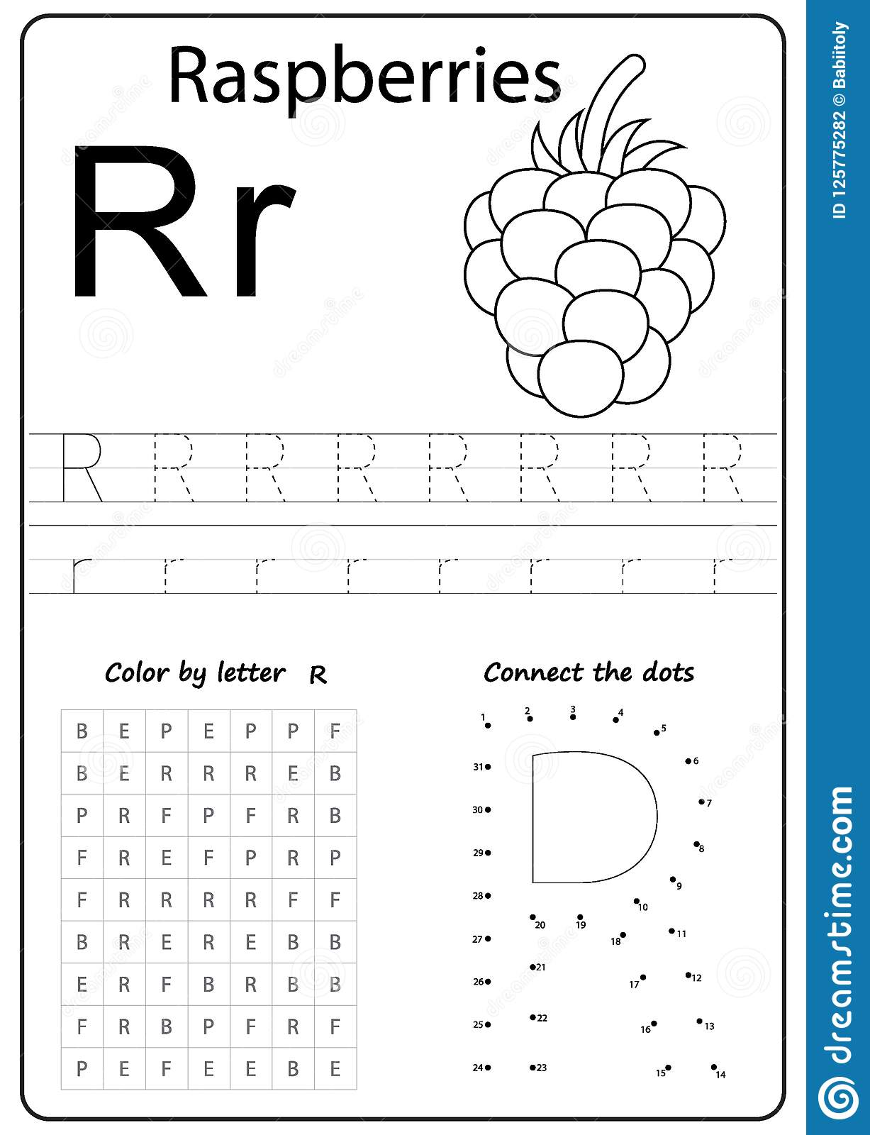 Writing Letter R Worksheet Writing A Z Alphabet Exercises Game For Kids Stock Vector