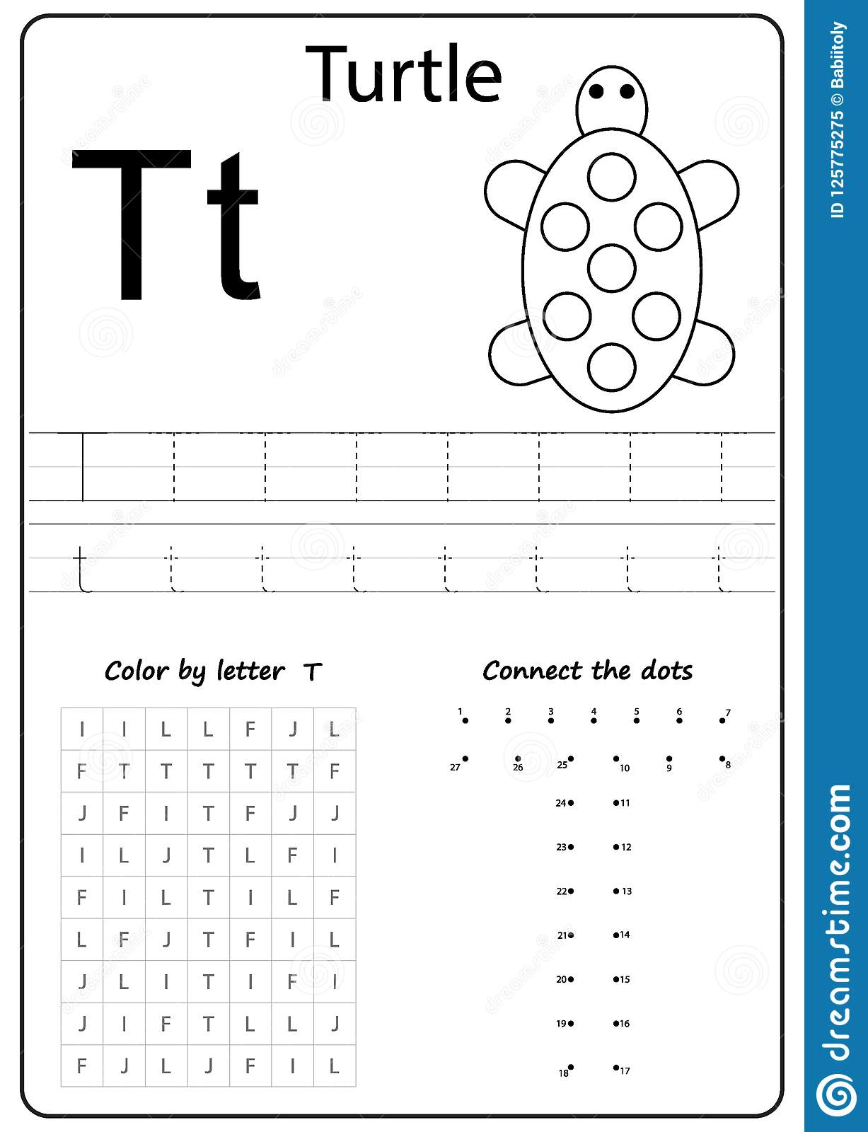 Chant Letter T Worksheet