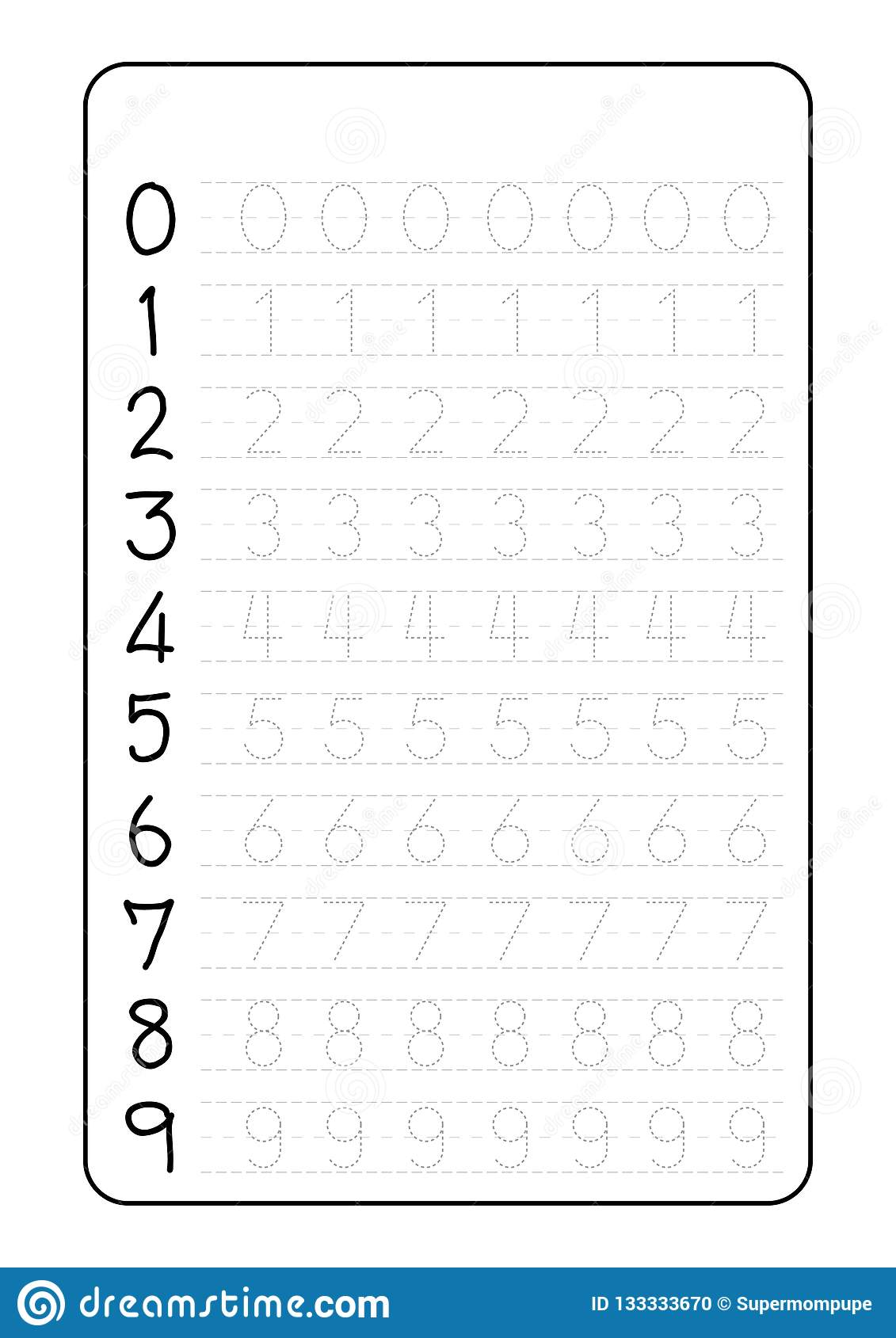 Tracing Letter And Numbers Worksheets
