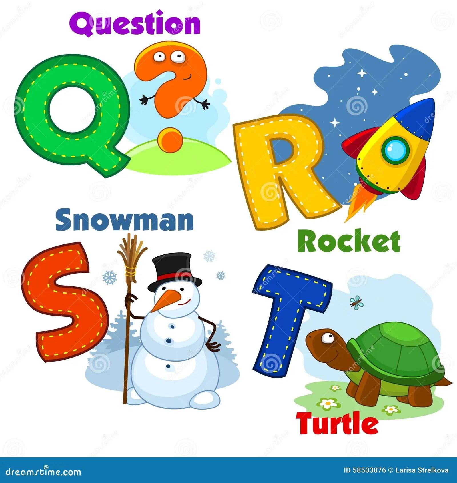 Alphabet Part 7 Stock Vector Illustration Of Snowflakes