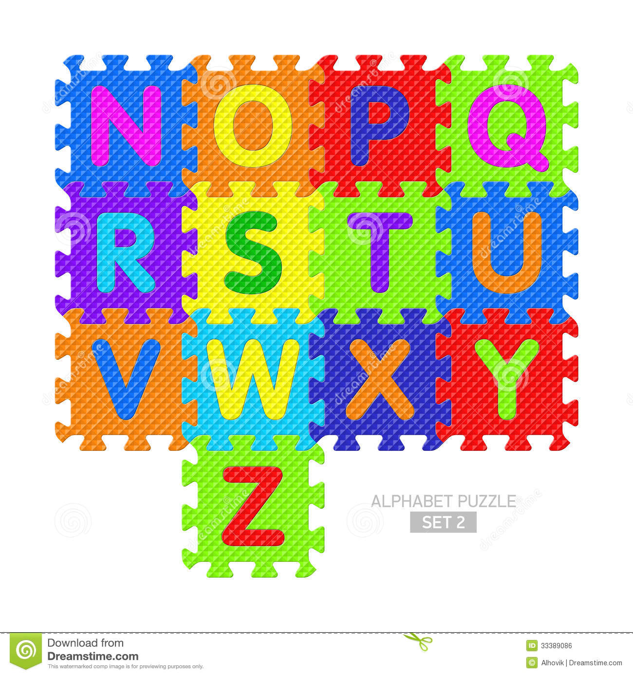 Alphabet Puzzle Stock Vector Illustration Of Colorful