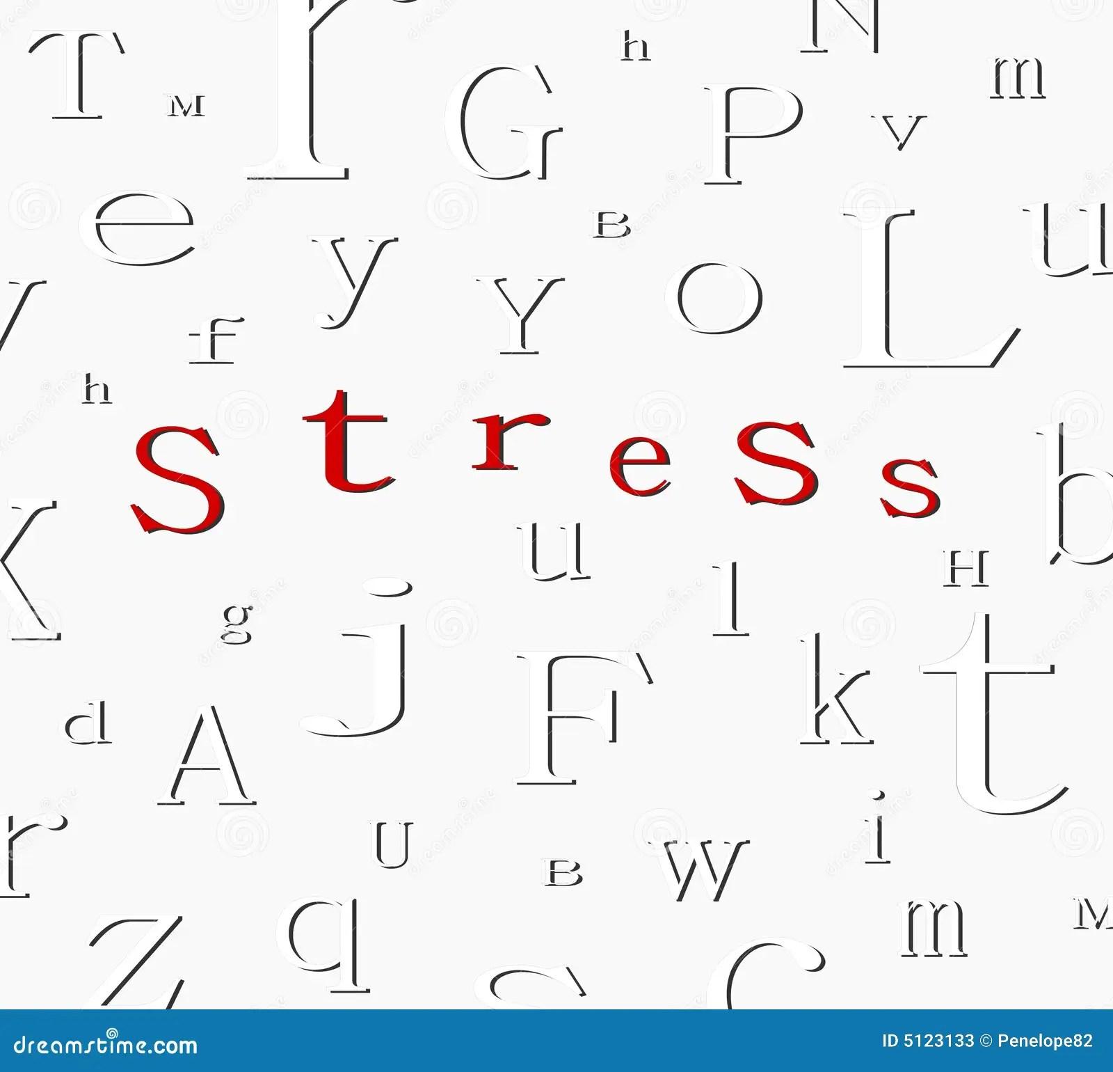 Alphabet Stress Background Stock Photos