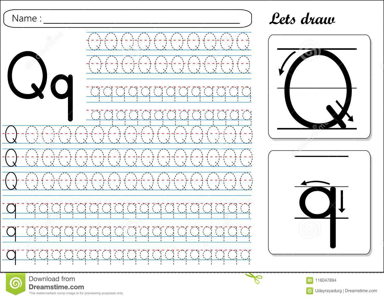 Qq Writing Worksheet