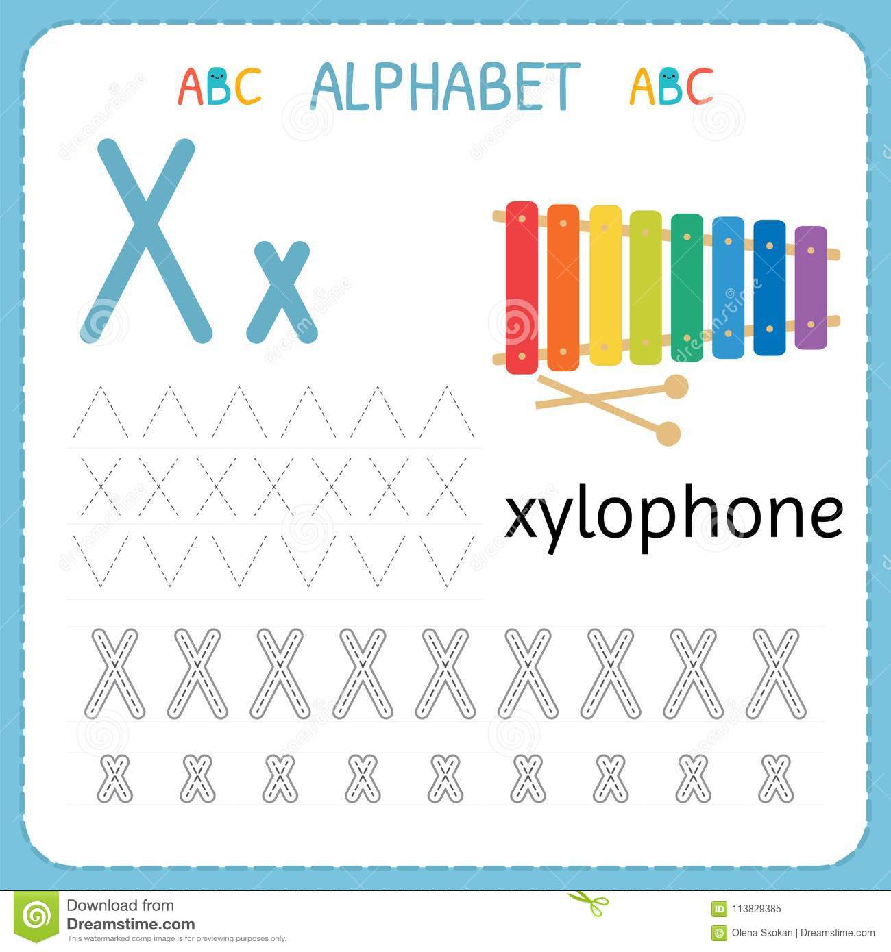 Preschool Alphabet Trace Worksheets