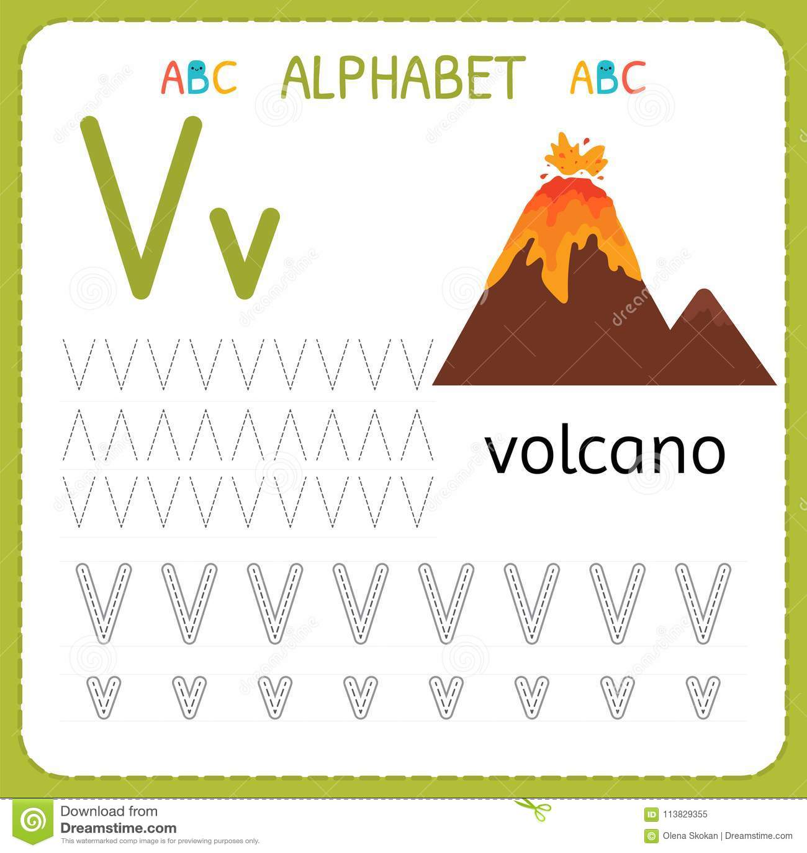 Letter V Worksheet Preschool