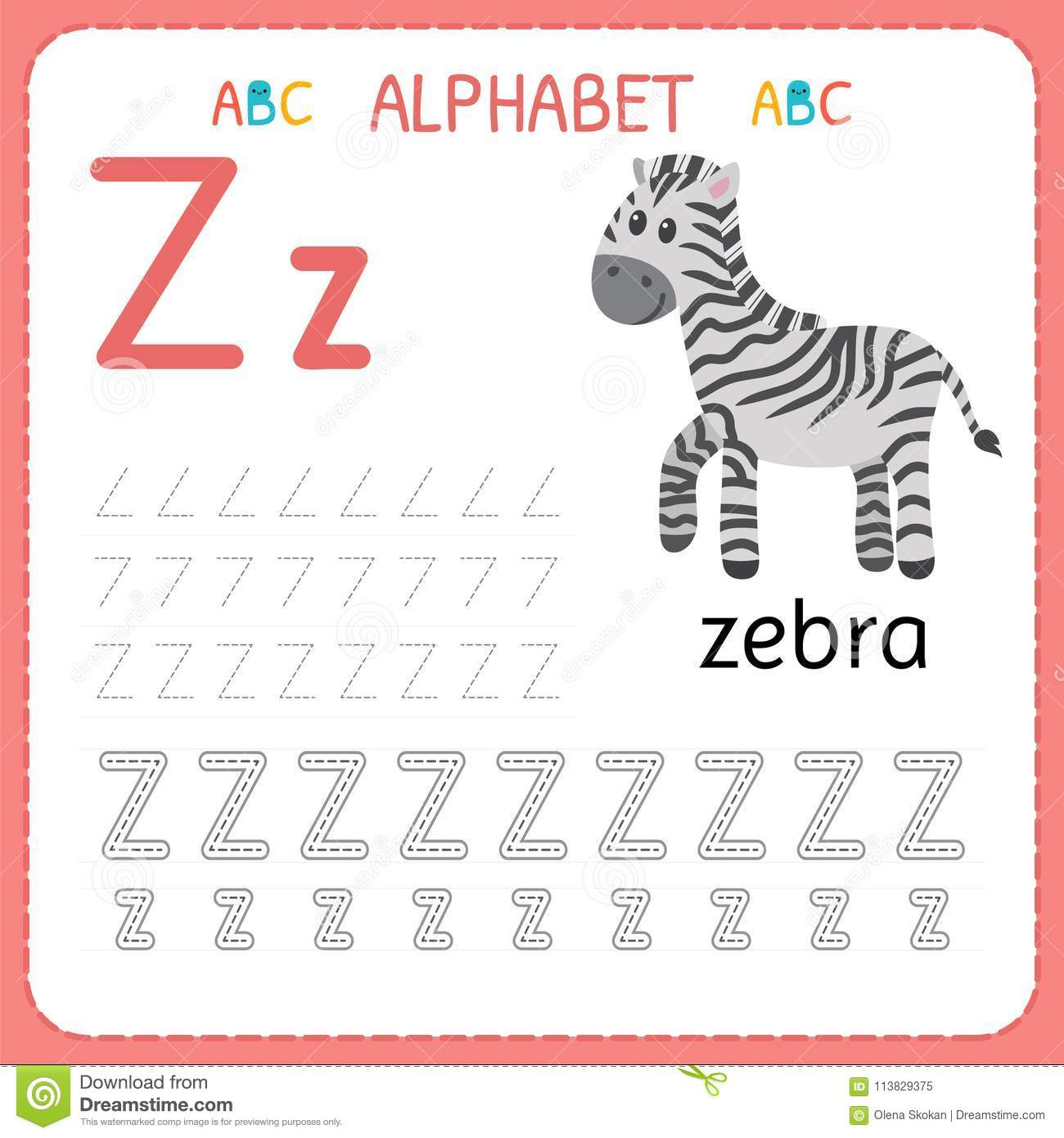 Alphabet Tracing Worksheet A To Z