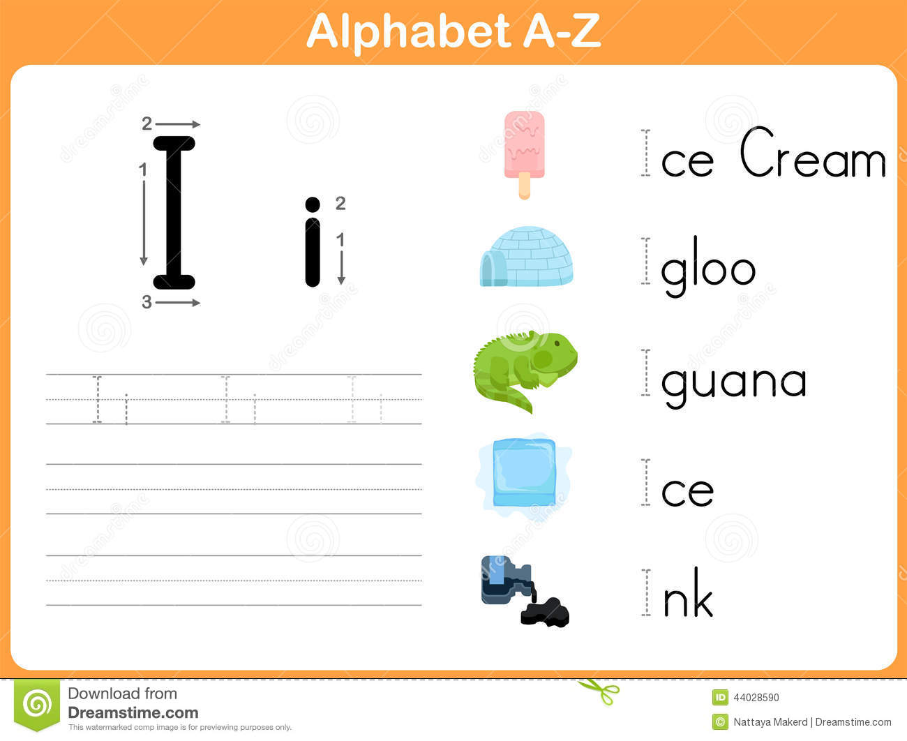 Alphabet Tracing Worksheet Stock Vector Illustration Of Cursive