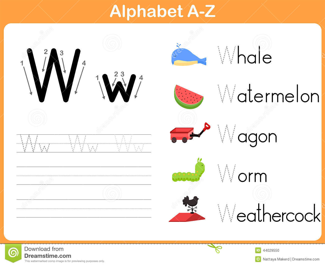 Alphabet Tracing Worksheet Stock Vector Illustration Of Early