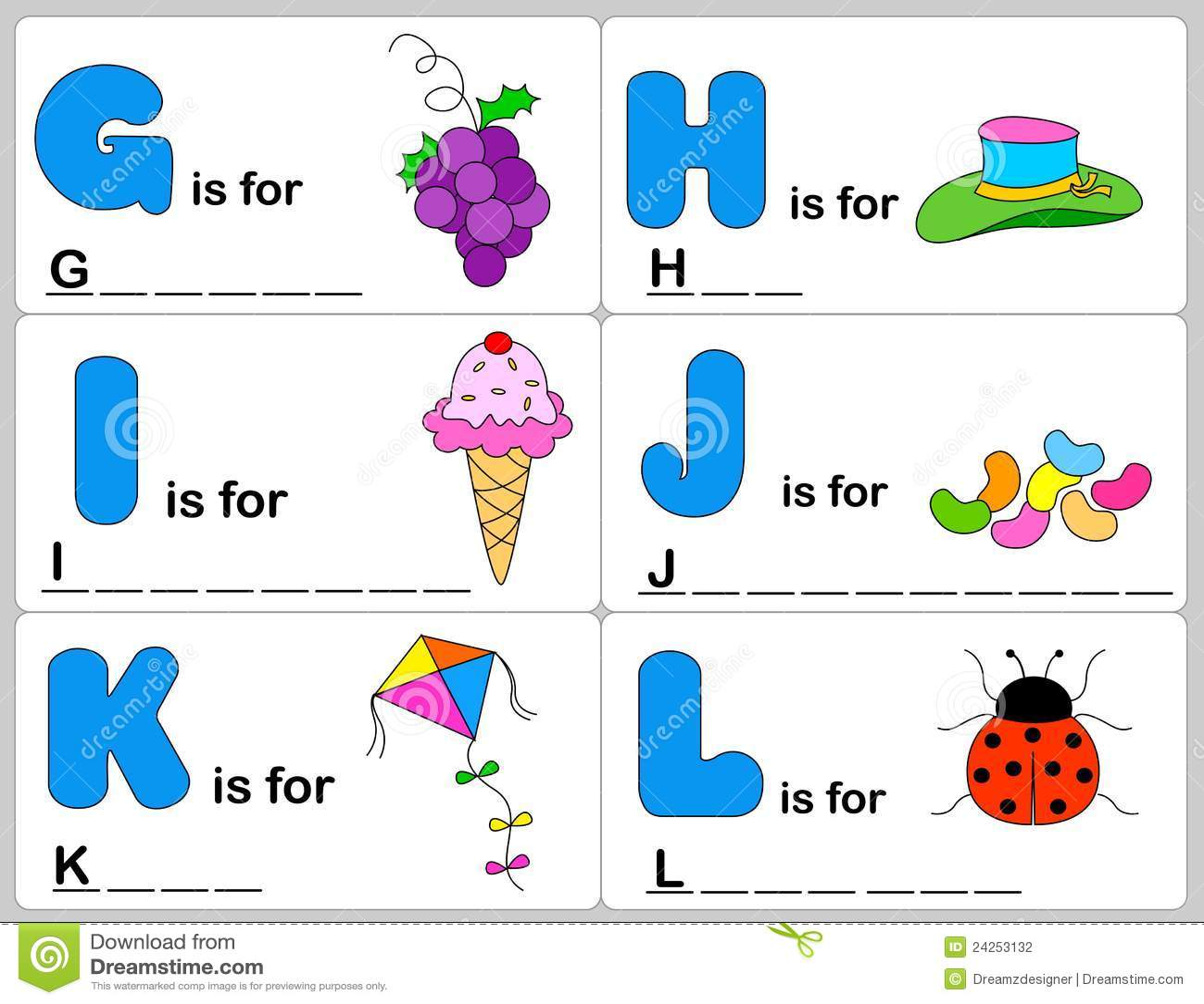 Alphabet Word Stock Vector Illustration Of Clipart Blank