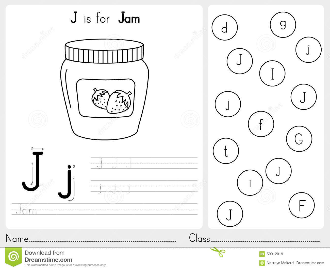 Color By Letter Worksheet For Kindergarten