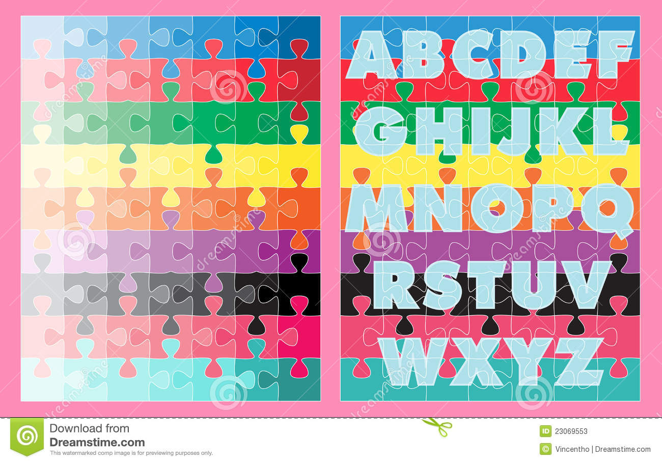 Learning Abc Colors Jigsaw Puzzles Stock Photos