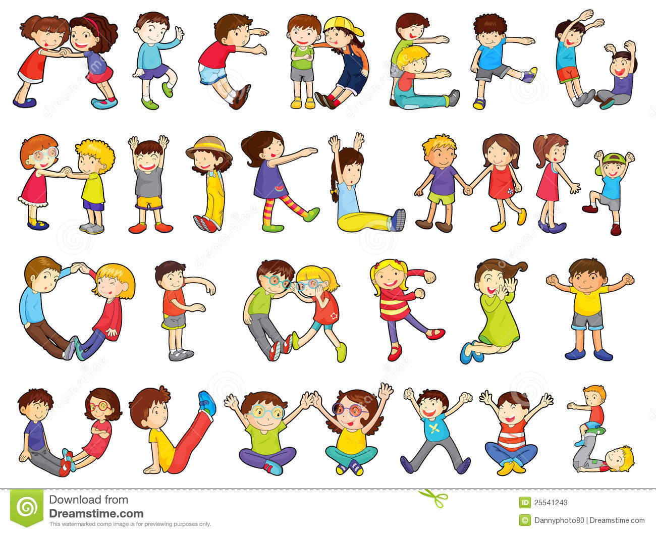 Alphabets In Kids Activities Stock Photos