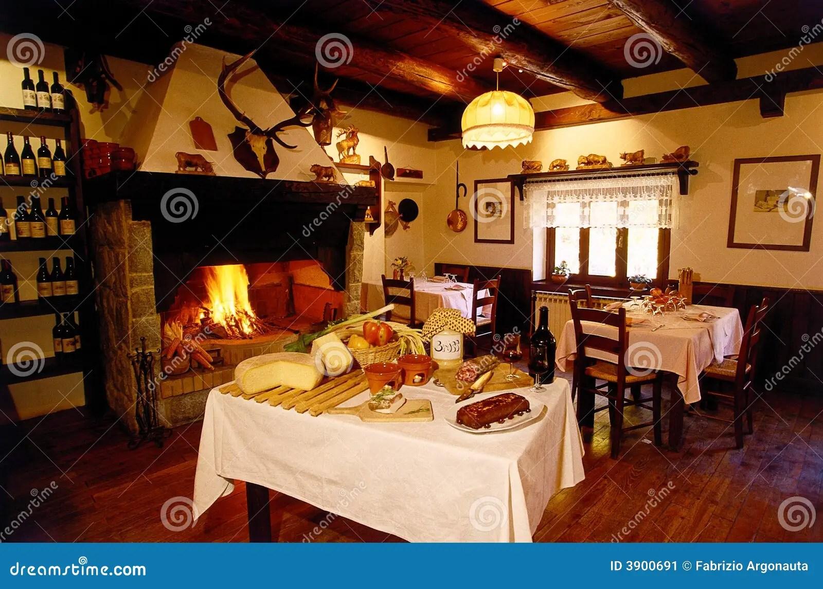 Alpine Restaurant Lounge Stock Image Image 3900691