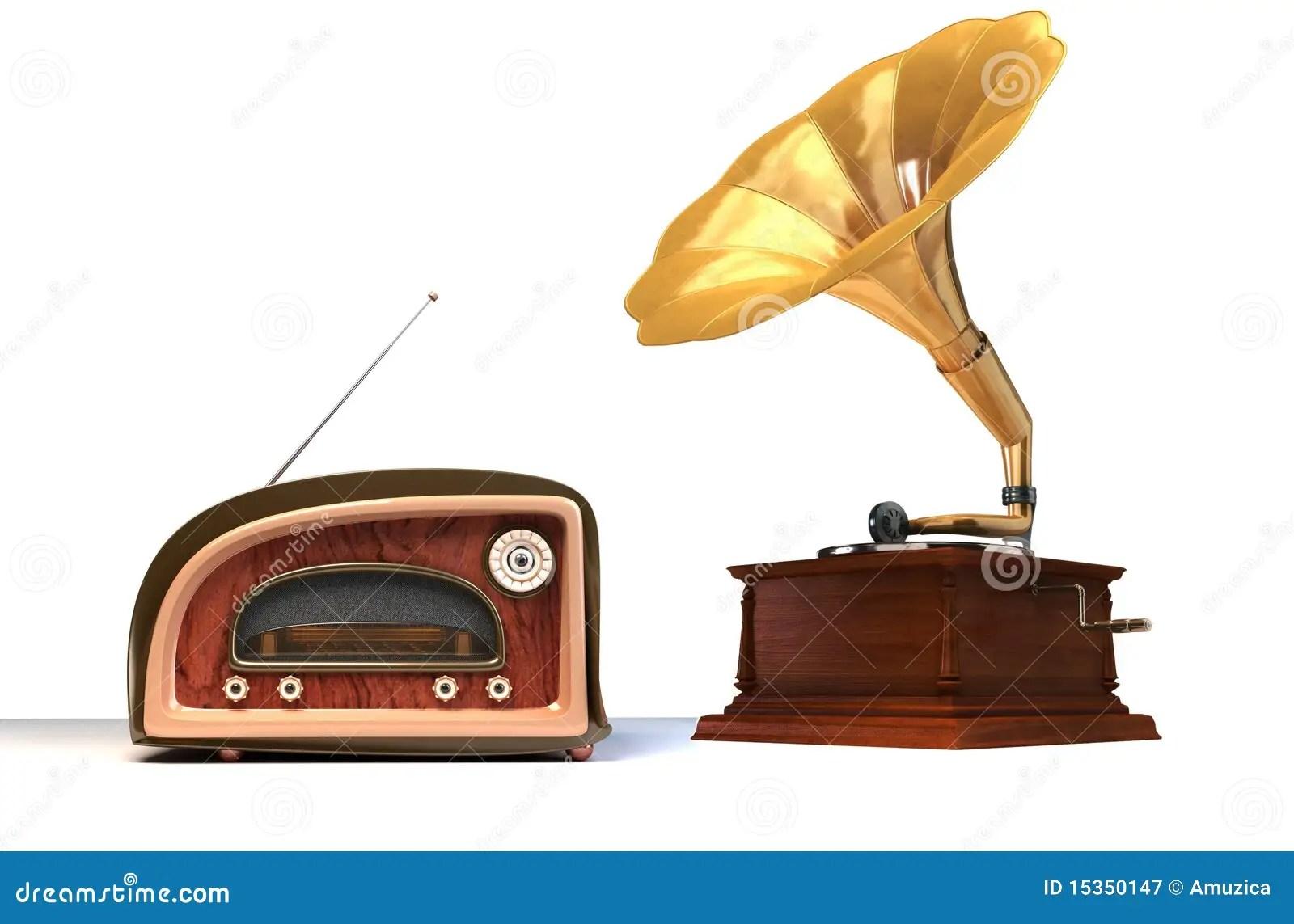 Alte Sachen stock abbildung. Bild von megaphon, grammophon