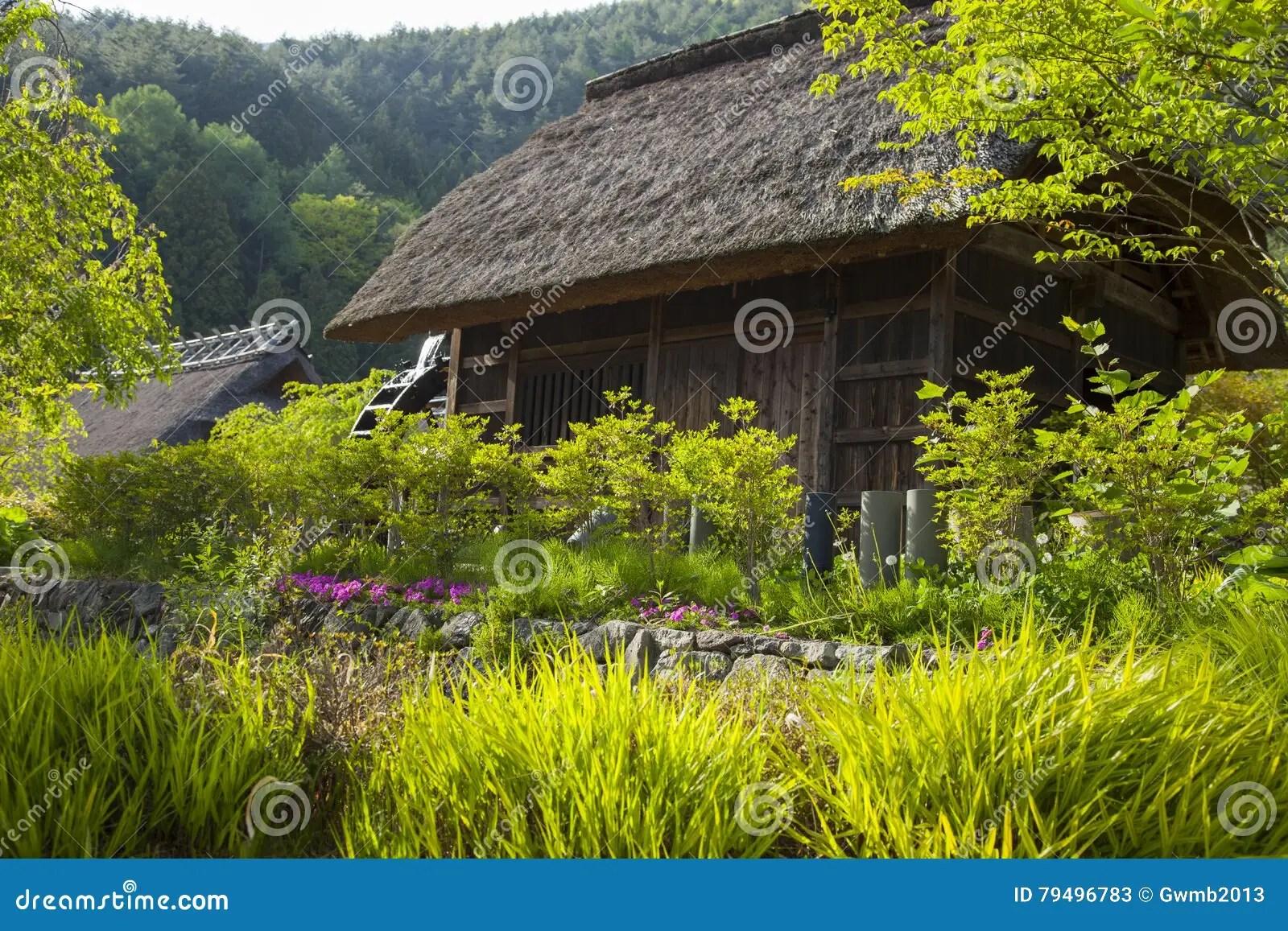 Alte Traditionelle Japanische Häuser Stockbild - Bild von handwerke