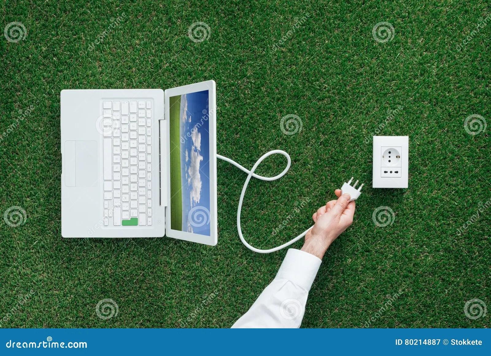 Alternative Energy Sources Stock Image Image Of Laptop