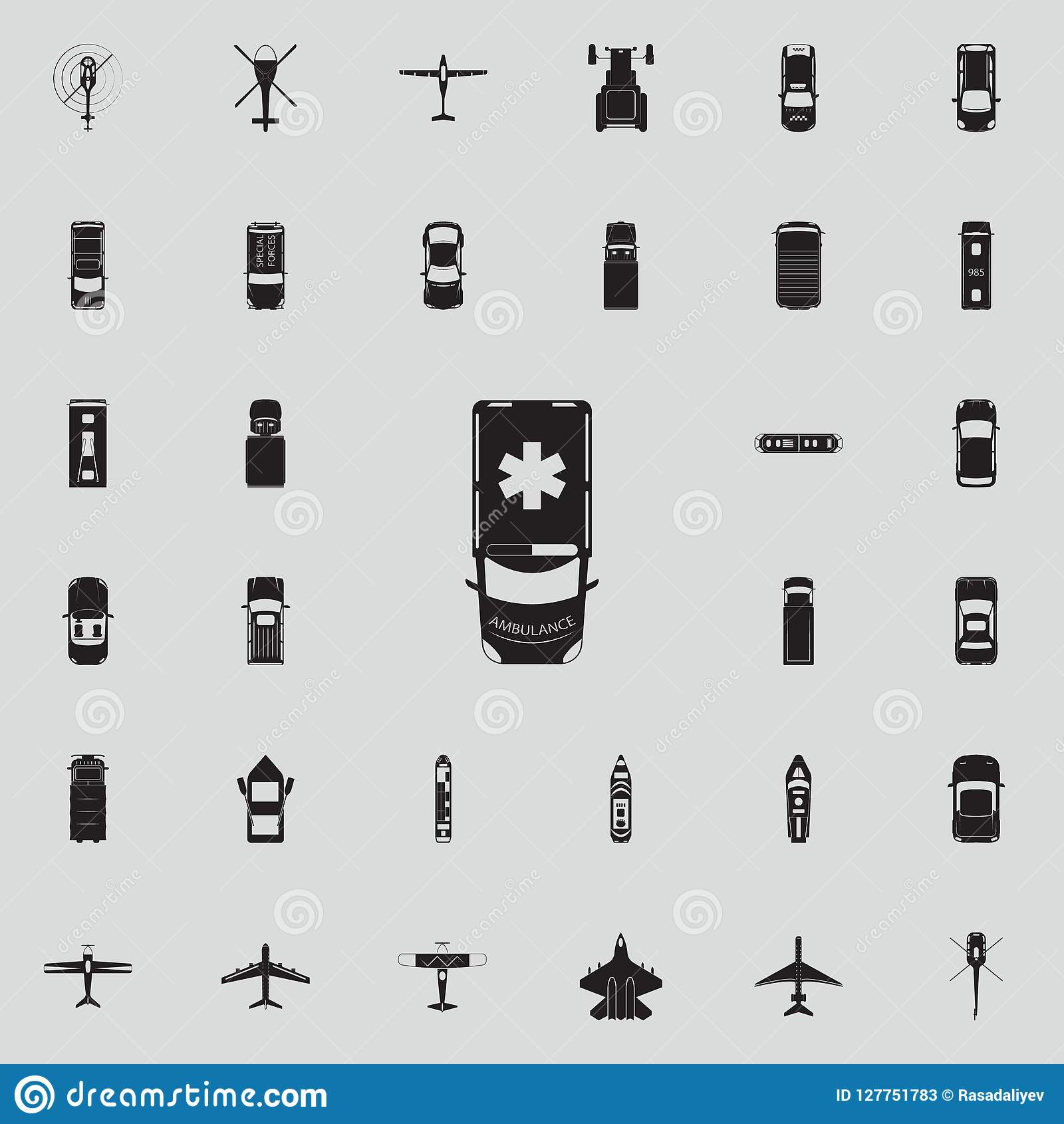 Ambulance Icon Transport View From Above Icons Universal