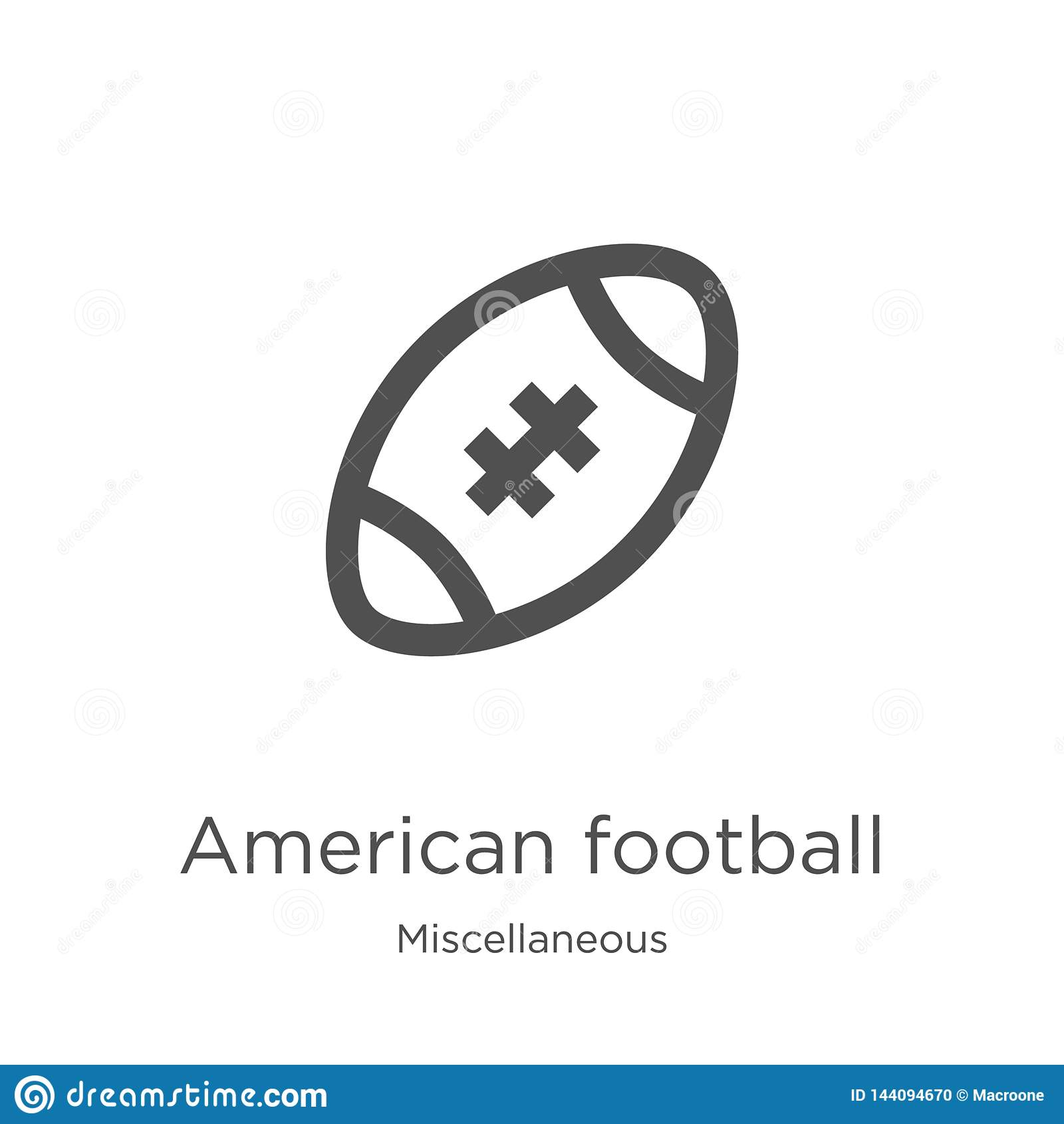 Choose from 8688 american football player stock illustrations from istock. American Football Icon Vector From Miscellaneous Collection Thin Line American Football Outline Icon Vector Illustration Outline Stock Vector Illustration Of Computer Whistle 144094670