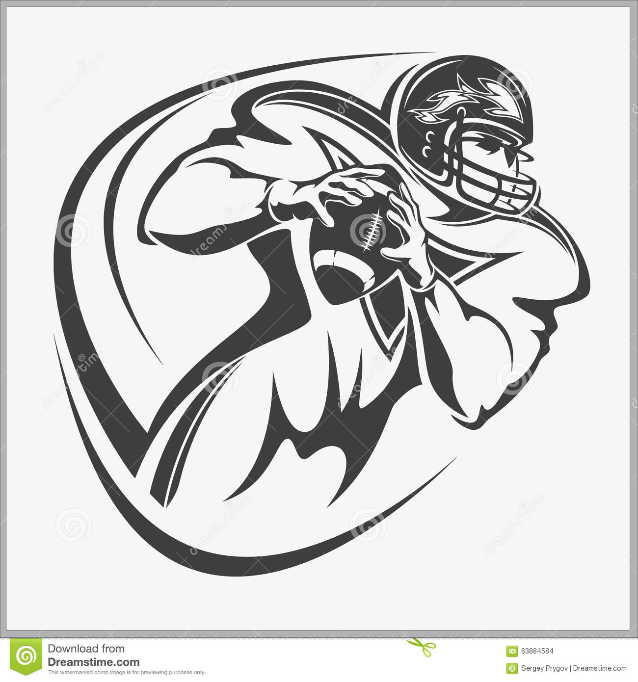 American Football Player Stock Vector
