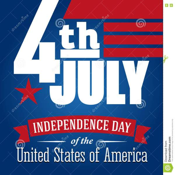 American Independence Day Design. Fourth Of July Patriotic ...