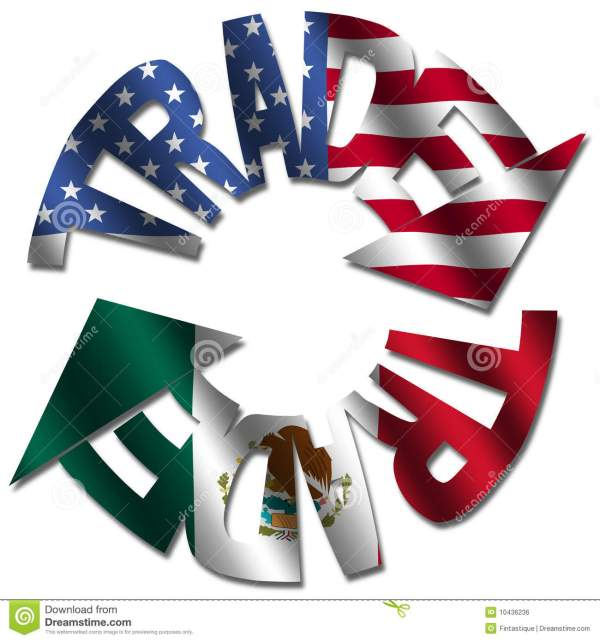 American Mexican trade stock illustration. Image of ...