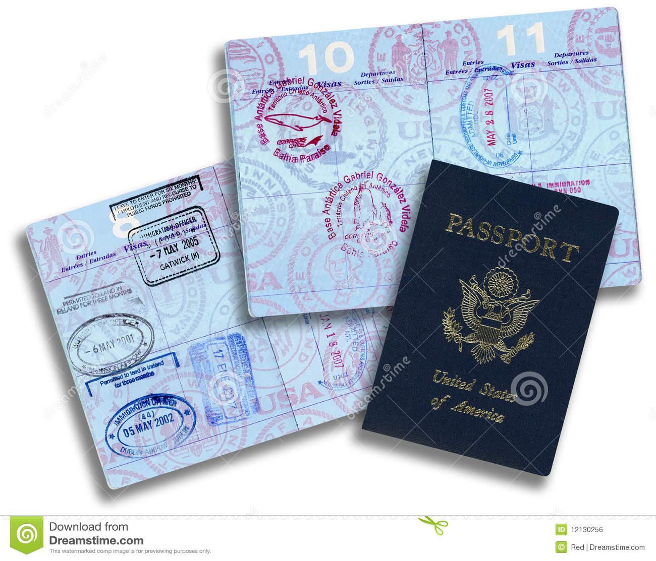 American Passport Stock Photo Image Of Europe Stamped