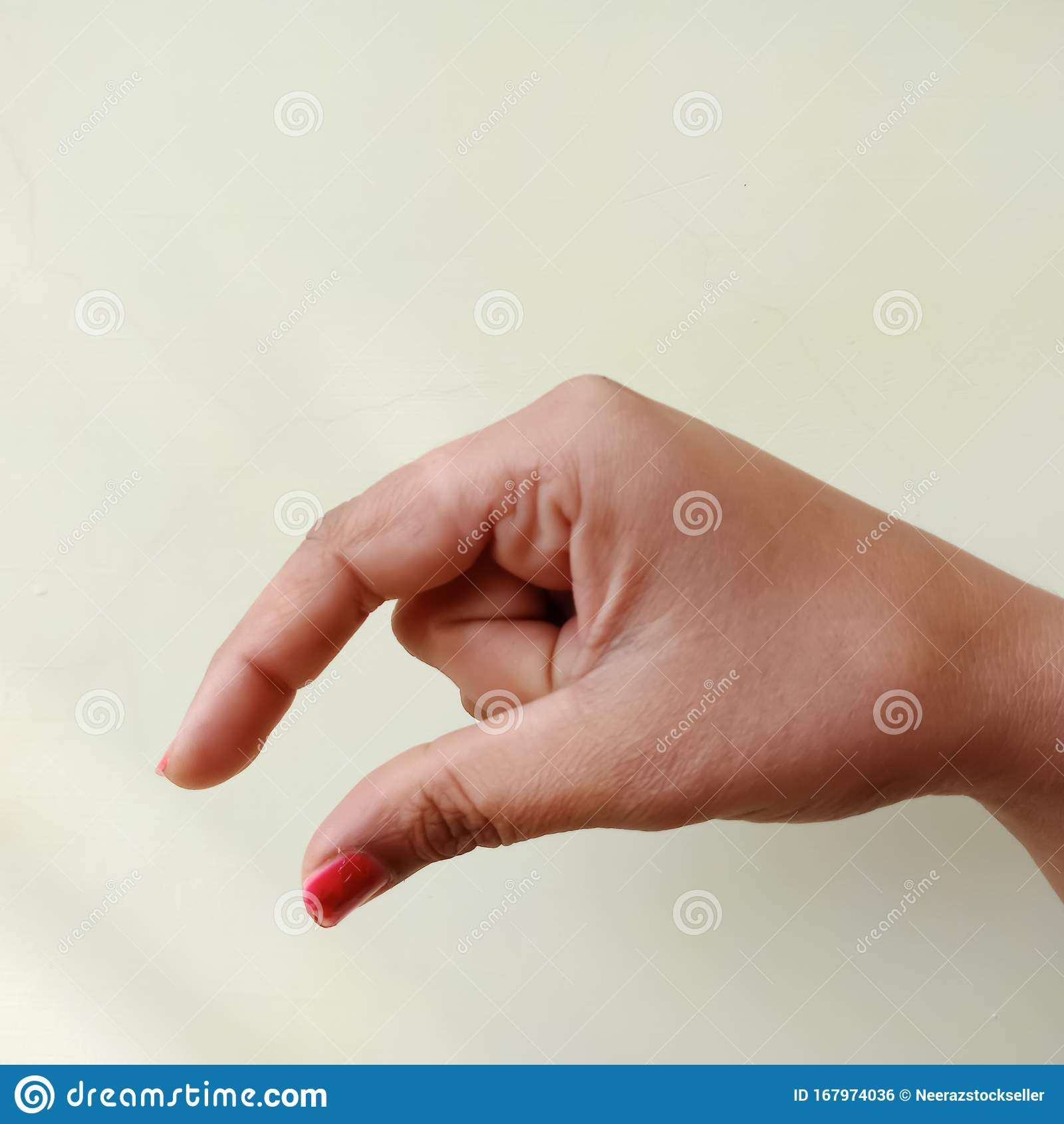 American Sign Language Alphabet Letter P Displayed With