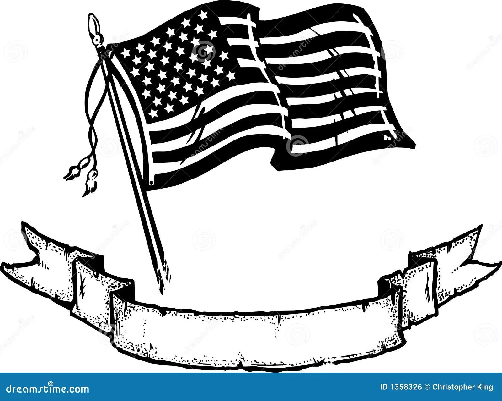 Amerikanische Flagge U Fahne Lizenzfreies Stockbild
