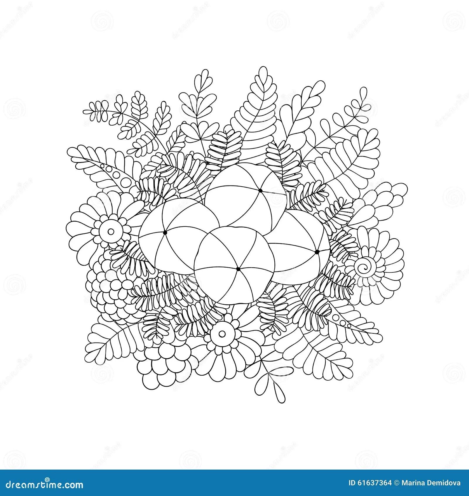 Amla Isolated Doodle Vector Image Stock Vector