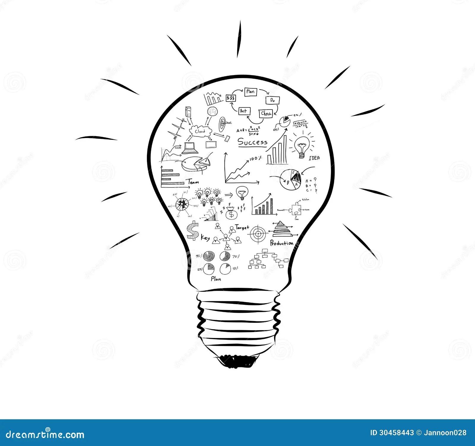 Ampoule Avec Le Graphique De Dessin A L Interieur
