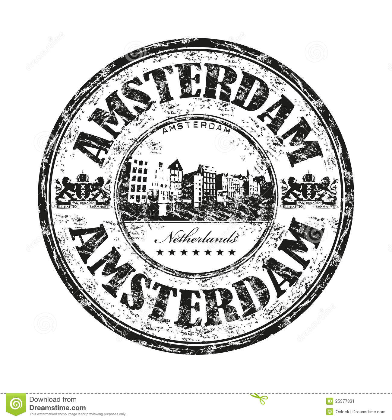 Amsterdam Grunge Rubber Stamp Stock Vector
