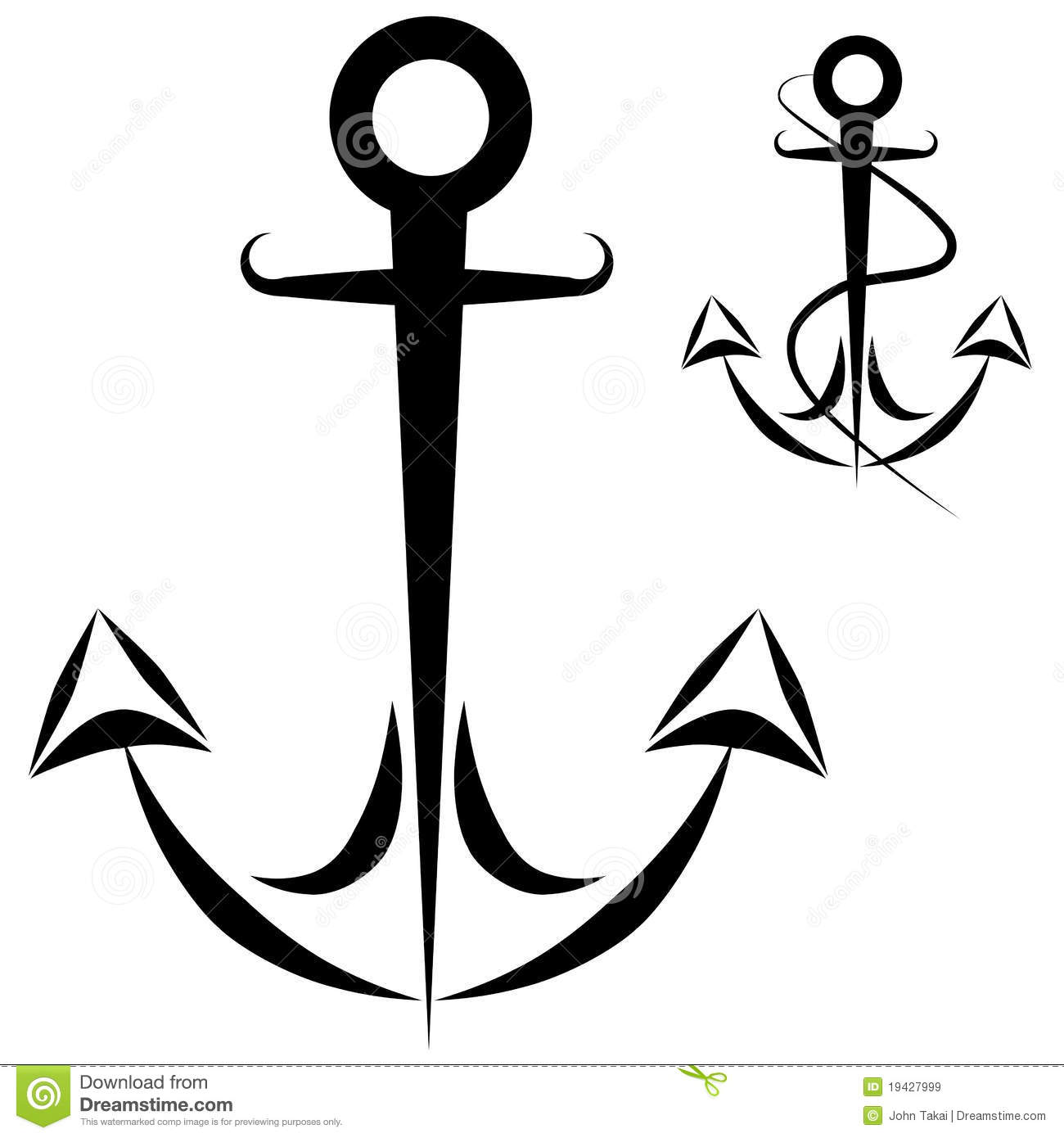 Anchor Chain Rope Stock Vector Illustration Of