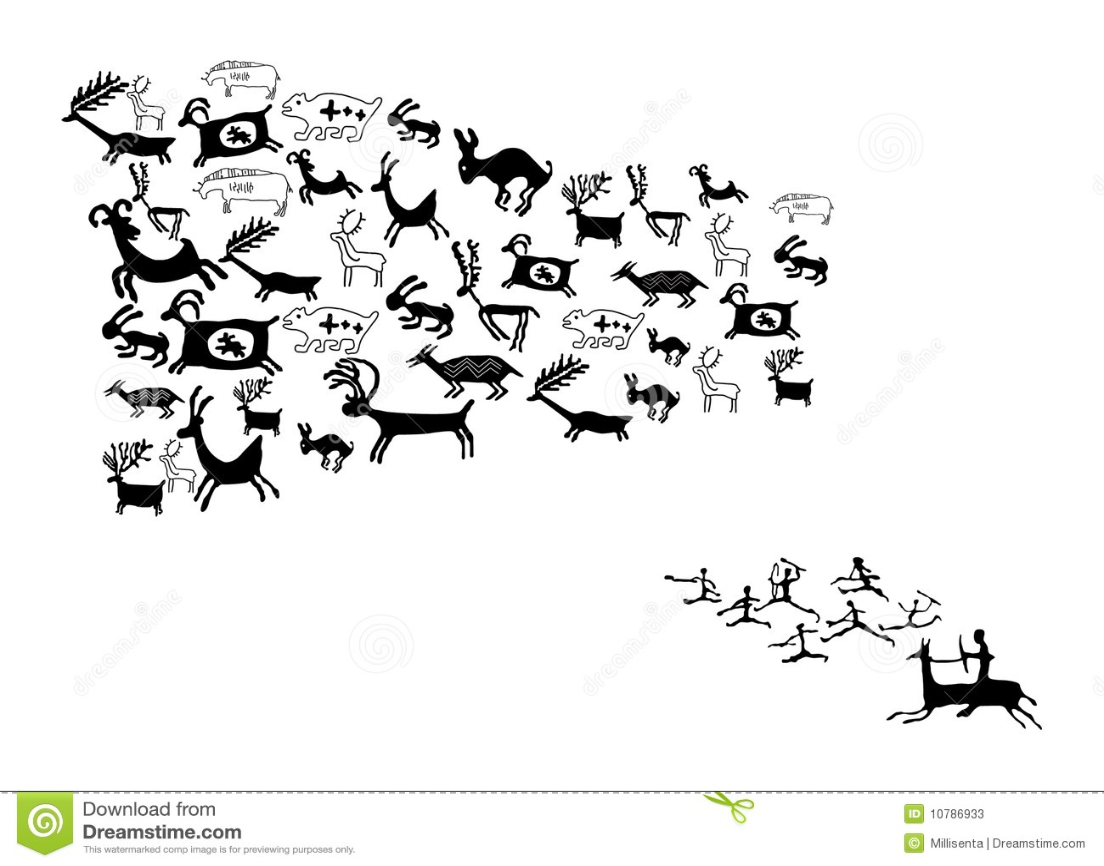 Ancient Animal Drawings Stock Photos