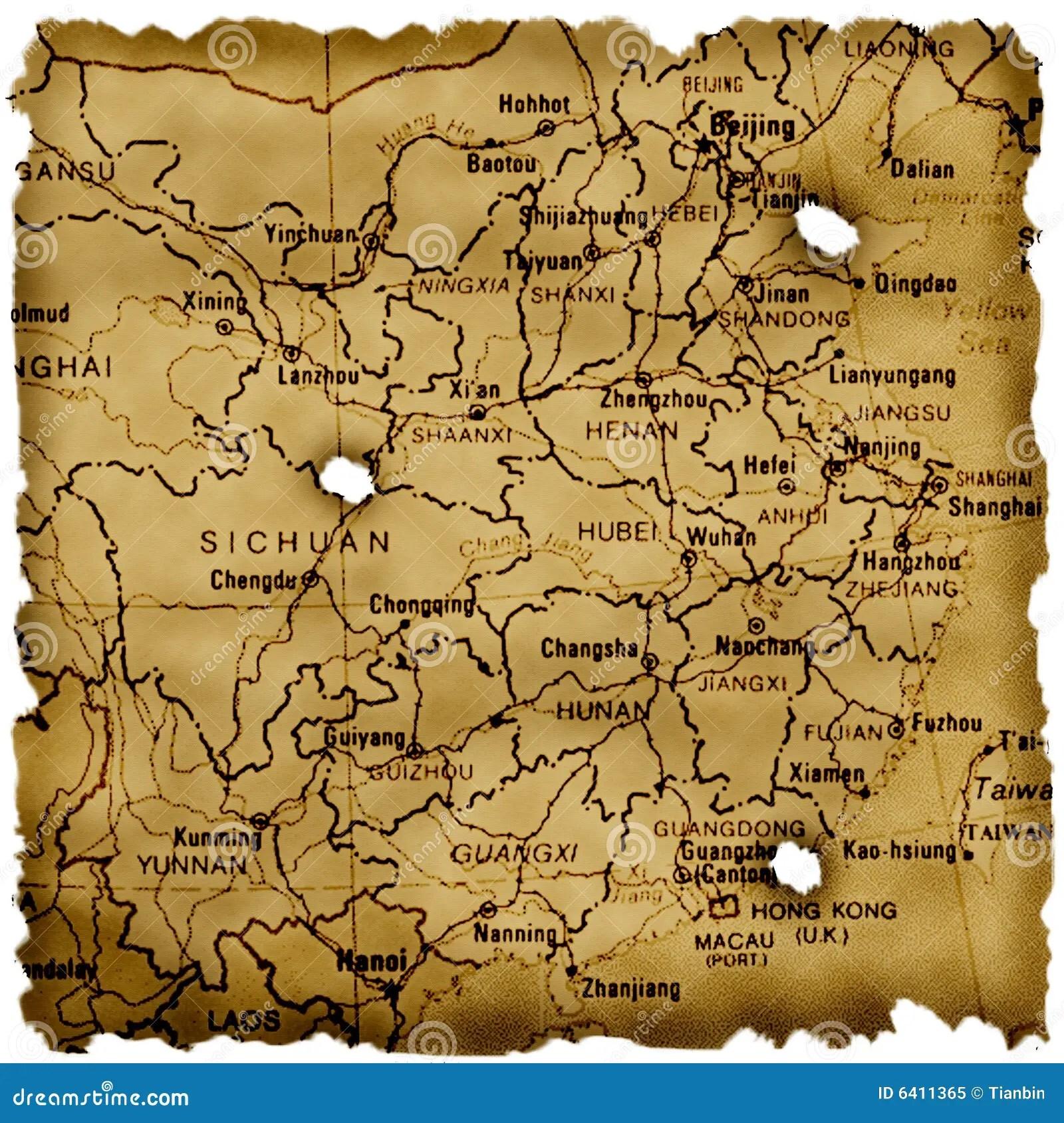 Ancient China Map Stock Illustration Illustration Of Global