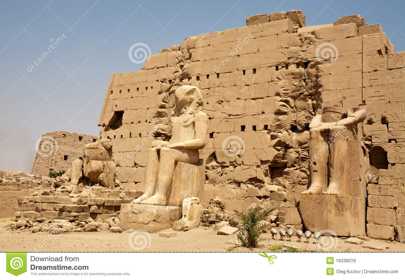 Ancient Egyptian Statues Stock Image Image Of Figure