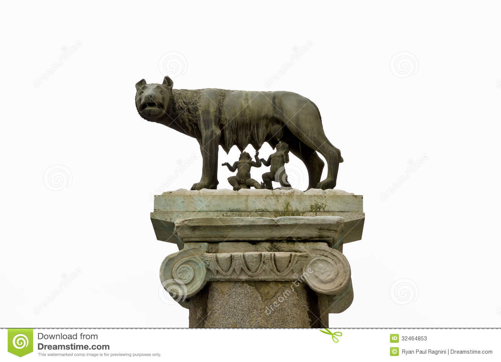 She Wolf Romulus Remus Statue