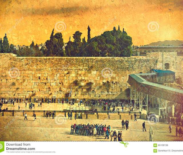 Ancient Ruins Of Western Wall Of Temple Mount Is A Major Jewish Sacred Place And One Of The Most Famous Public Domain In The World Jerusalem